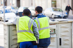 Urban workers Stock Photography
