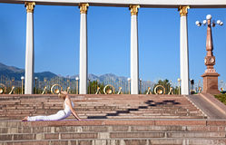 Urban Yoga bhujangasana cobra pose Stock Image