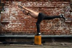 Urban yoga Royalty Free Stock Photos