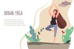 03 Urban yoga stock illustration