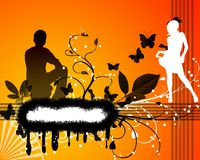 Urban young people stock illustration