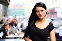 Urban young woman Stock Image