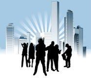 Urban_people Stock Image