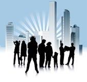 Urban_people_variation Royalty Free Stock Image