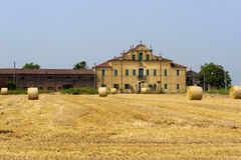 Urbana (Padua, Veneto, Italië) - Landbouwbedrijf Stock Fotografie