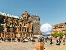 Urbancescène met de Kandidatuur van Frankrijk voor Wereldmarkt 2025 royalty-vrije stock fotografie