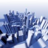 Urbane Landschaft von der Höhe des Fluges des Vogels Lizenzfreie Stockbilder