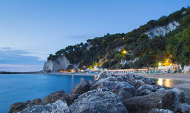 Urbani Beach, Sirolo, Ancona, Marche, Italy Royalty Free Stock Photography
