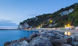 Urbani plaża, Sirolo, Ancona, Marche, Włochy Fotografia Royalty Free
