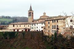 Urbania walls. The medieval walls of urbania in italy Royalty Free Stock Photo