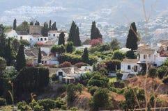Urbanisation San Nicolas (Grenade Espagne) Images libres de droits