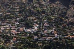 urbanisation sur des terrasses à la La Gomera, Îles Canaries Images libres de droits