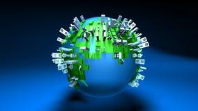 Urbanisation of the world Royalty Free Stock Image