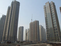 Urbanisering av Kina Royaltyfria Bilder