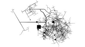 Urbanisierung und Stadt-Planungs-Entwicklungs-Konzept stock video footage
