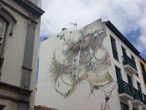Urbanitemuurschildering Stock Foto's