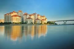 Urbanización de Singapur fotografía de archivo libre de regalías