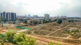 Urbanización de terrenos de la ciudad Foto de archivo