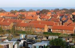 Urbanización del ladrillo rojo en Inglaterra imagen de archivo libre de regalías