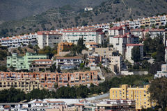 Urbanización Málaga de la ladera Fotos de archivo libres de regalías