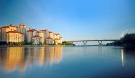 Urbanización de Singapur Imagen de archivo libre de regalías
