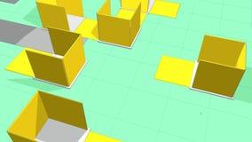 Urbanization. Animation render, urbanization house and street stock video