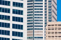 Urbanization background of featureless buildings Royalty Free Stock Photography