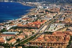 Urbanization of coastal city. Country view - Urbanization of coastal city Royalty Free Stock Images