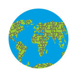 Urbanization earth. Roads have filled in all continents of  land Stock Images