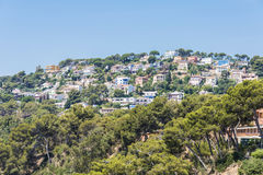 Urbanization of luxury home, Spain. Urbanization of luxury home on the Mediterranean coast in Costa Brava, Catalonia, Spain Royalty Free Stock Images