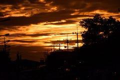 Urbanization and twilight Stock Photography