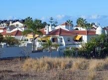 Urbanization of white houses Royalty Free Stock Images
