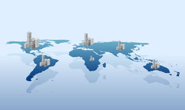 Urbanization on the world vector Stock Images