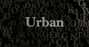 Urbano - 3D rindió el ejemplo compuesto tipo metálico del título Imagenes de archivo