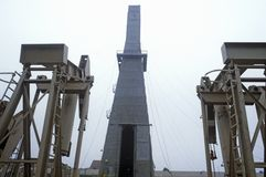 Urbano pozzo di petrolio a Torrance, Delamo Company, CA Fotografia Stock