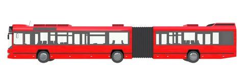 Urbano rojo del autobús de la ciudad aislado en una representación blanca del transmilenio 3D del fondo ilustración del vector