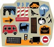 Urbano-vita-colore royalty illustrazione gratis