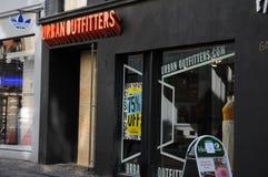 Urbanoutfitters butikskedja i Köpenhamnen Danmark 75% av Royaltyfria Bilder