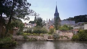 Urbanscape van Broglie, Normandië Frankrijk stock videobeelden