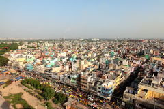 Urbanview scape of India. Urban view of Old Delhi,  India Royalty Free Stock Photo