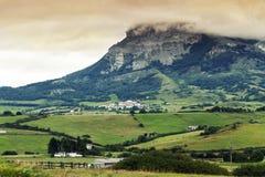 Urbasa Andia. Navarra. Andia mountain and village Unanu. Navarra highlands Stock Photo