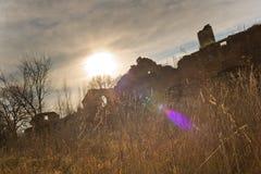 Urbex övergett hus, Tjeckien Arkivfoto
