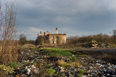 Urbex, покинутая фабрика, Stihnov, чехия Стоковое Фото