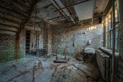 Urbex of an abandoned bathroom. Abandoned bathroom at Letchworth Village Royalty Free Stock Photography