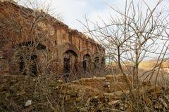 Urbex, abandoned factory, Stihnov, Czech republic. Abandoned bricks factory in Czech republic, dilapidated farmhouse. Stihnov, ghost village, near Novy Bydzov Royalty Free Stock Images