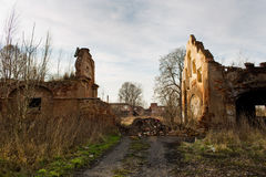 Urbex, abandoned house, Czech republic royalty free stock image
