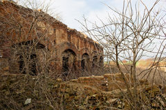 Urbex, fábrica abandonada, Stihnov, República Checa Imágenes de archivo libres de regalías