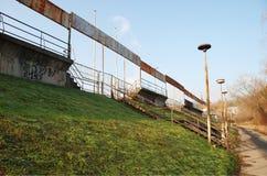 Urbex på fotbollsarena i Brno royaltyfria foton
