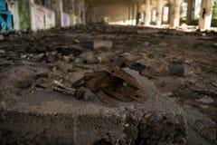 Urbex Prague part 2. Urban exploration factory in Prague - rusty screws Stock Images