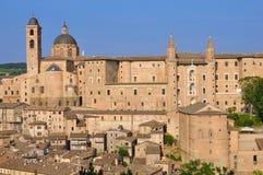 Urbino. Renaissance palace of urbino, marches, italy Royalty Free Stock Photo